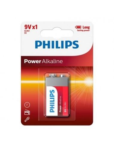 Philips Alkaline Power Pila Alcalina 6 LR61 9V
