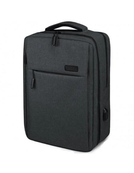 "Subblim Mochila Traveller Airpadding Backpack para portátiles 15.6"" USB Gris"