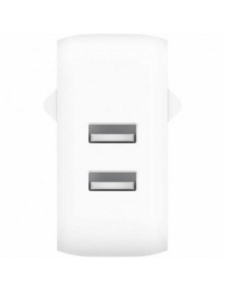 Belkin Playa Dual USB-A Cargador de Pared 24W Blanco