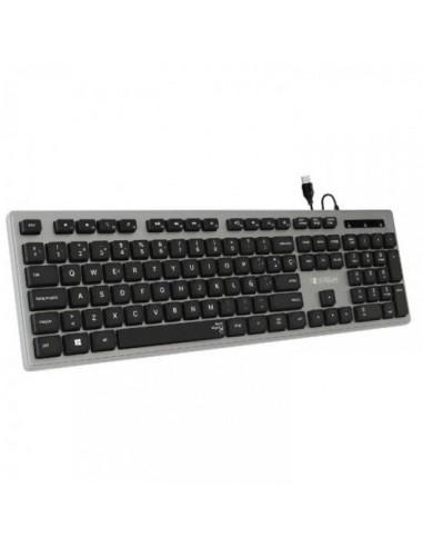 Subblim Ergo Silent Flat Teclado USB Negro/Gris