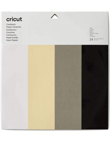 Cricut Cartulina Sampler Basics 30x30cm 24u (4 colores)