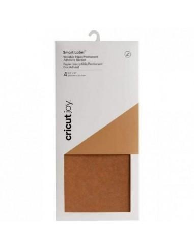 Cricut Joy Label Vinilo de Papel Kraft Escribible 13.9 x 30.4 cm