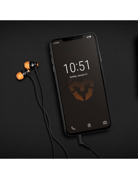Krom Kinear Auriculares Gaming Intrauditivos Negro/Naranja